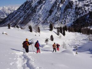 Schneeschuhwandern ab Hotel in der Flüela-Region (GR)