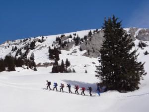 Schneeschuh Silvester-Tour in Partnun am Fusse der Sulzfluh (GR)