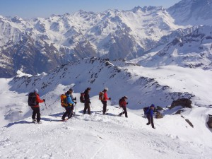 Schneeschuh-Hotel-Trekking Gspon, Visperterminen und Simplon