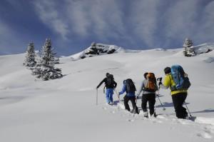 Schneeschuh-Silvester in Les Diablerets, mitten in den Waadtländer Alpen