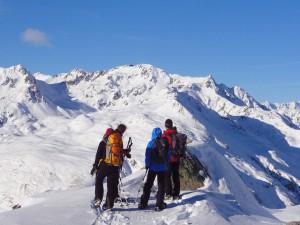 Schneeschuh-Wochenende Kunkelspass und Ringelspitzhütte