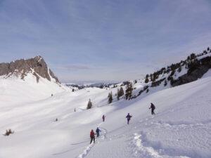 Schneeschuhwandern ab Hotel in Tschamut am Oberalppass (GR/UR)