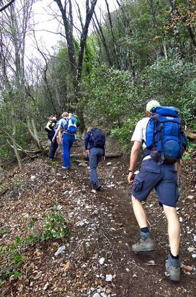 Aufstieg zum Monte dell'Avvocato