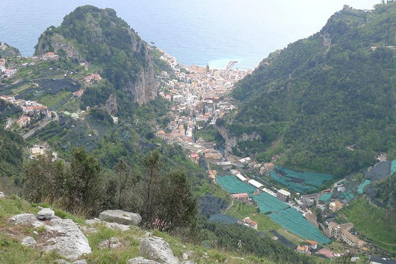 Sicht auf Amalfi