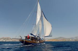 Wandern im südlichen Dodekanes, mit dem Segelschiff von Insel zu Insel (GR)